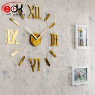 ساعت دیواری فانتزی طرح مدرن رومی (طلایی)
