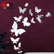 آینه دکوراتیو پروانه ها با انتخاب نوع پروانه و ابعاد مدنظر به هر تعداد