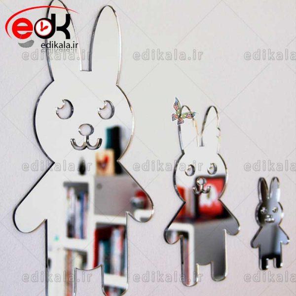 اینه دکوراتیو دیواری فانتزی طرح خرگوش