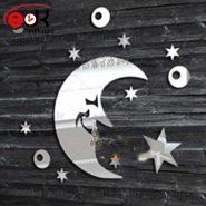 اینه دکوراتیو دیواری فانتزی طرح ماه و ستاره