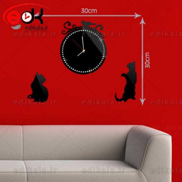 ساعت دیواری فانتزی طرح گربه شماره 1